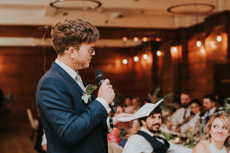 Groom in Moss Bros Suit | City Wedding at Town Hall Hotel, Bethnal Green | Fern Edwards Photography