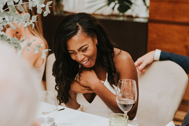 Bride in Charlie Brear Gown | City Wedding at Town Hall Hotel, Bethnal Green | Fern Edwards Photography