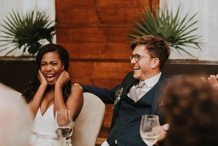 Speeches | Wedding Reception | City Wedding at Town Hall Hotel, Bethnal Green | Fern Edwards Photography