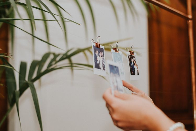 Polaroid Pictures | City Wedding at Town Hall Hotel, Bethnal Green | Fern Edwards Photography
