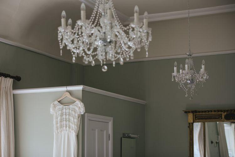 Laure De Sagazan Wedding Dress // Pennard House Somerset Wedding // Image By Helen Lisk Photography