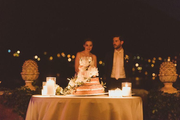 Bride & Groom Cutting the Cake | Outdoor Destination Wedding at Villa Regina Teodolinda, Lake Como, Italy | Matt Penberthy Photography