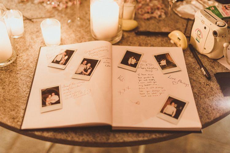 Polaroid Guest Book | Outdoor Destination Wedding at Villa Regina Teodolinda, Lake Como, Italy | Matt Penberthy Photography
