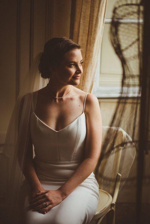 Bride in Karen Willis Holmes Gown | Outdoor Destination Wedding at Villa Regina Teodolinda, Lake Como, Italy | Matt Penberthy Photography