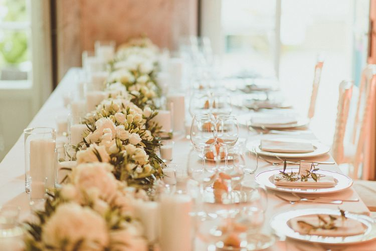 Elegant White & Green Table Scape | Outdoor Destination Wedding at Villa Regina Teodolinda, Lake Como, Italy | Matt Penberthy Photography