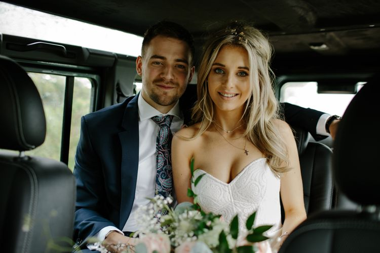Bride In Ava Rose Hamilton Gown