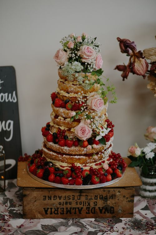 Naked Cake For Wedding