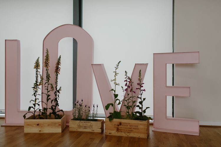 Pink LOVE Letters For Wedding