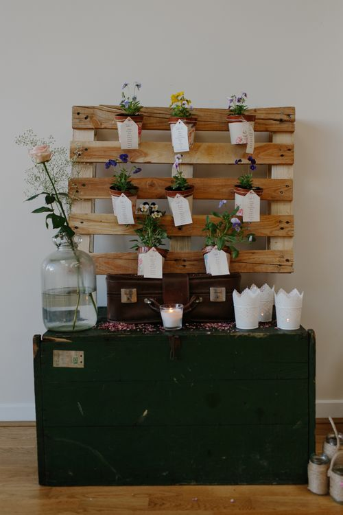 Wooden Palette Table Plan For Wedding