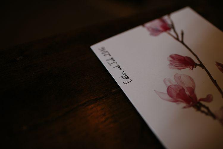 Floral Motif Wedding Stationery