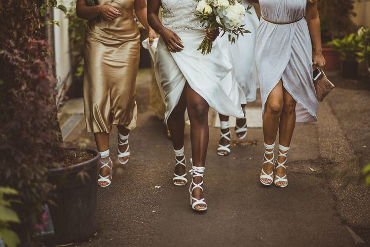 Bridal Party in Matching Public Desire Shoes