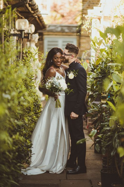 Stylish Bride & Groom in the Greenery