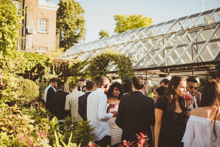 Conservatory Drinks Reception at Clifton Nurseries London