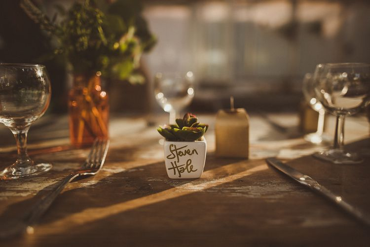 Personalised Succulent Wedding Favour