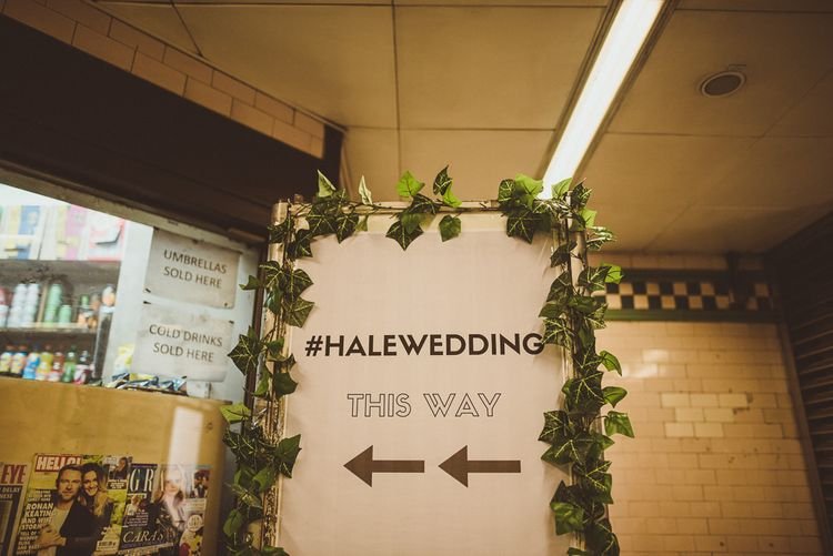 Wedding Signs with Ivy Decor