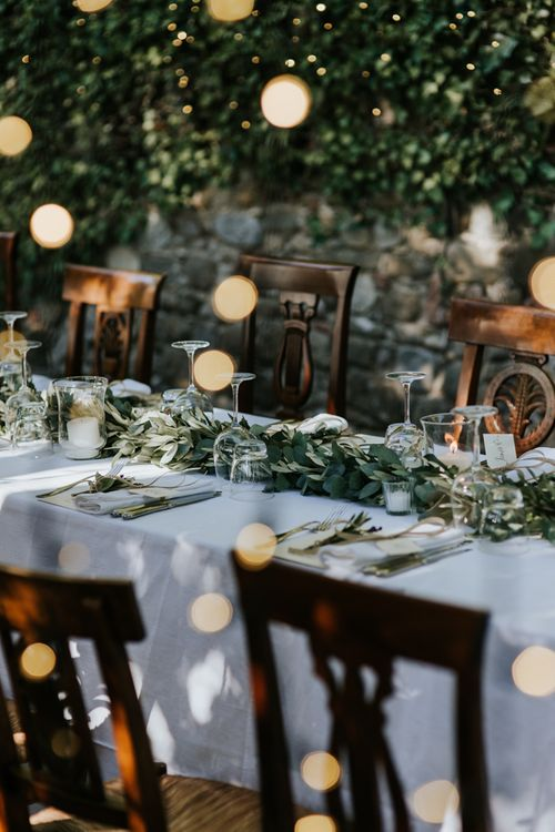 Fairy Lights For Outdoor Wedding Reception