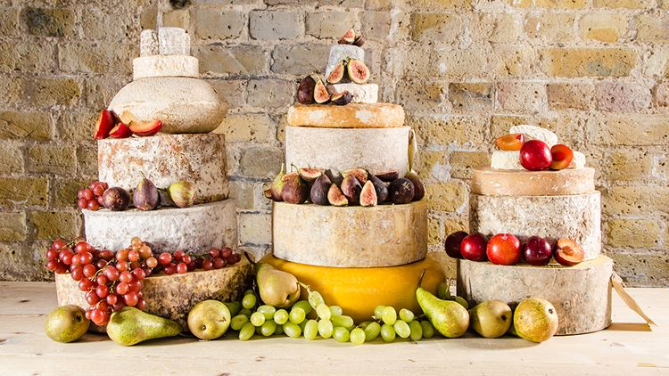 Neals Yard Dairy Cheese Tower For Wedding