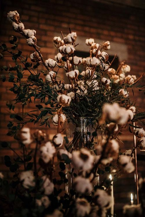 Cotton Buds Wedding Flowers | Industrial Wedding Inspiration at Victoria Warehouse in Manchester | Planning & Styling by The Urban Wedding Company | 2 Ducks Galleries