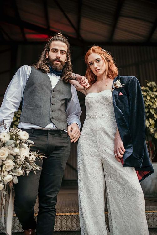 Stylish Bride & Groom | Industrial Wedding Inspiration at Victoria Warehouse in Manchester | Planning & Styling by The Urban Wedding Company | 2 Ducks Galleries