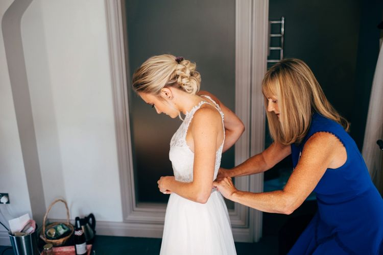 Bridal Preparations | Outdoor Ceremony & Rustic Wedding at Patricks Barn, Sussex | Dale Weeks Photography | Love Filmed