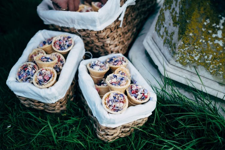 Confetti Cones | Outdoor Ceremony & Rustic Wedding at Patricks Barn, Sussex | Dale Weeks Photography | Love Filmed