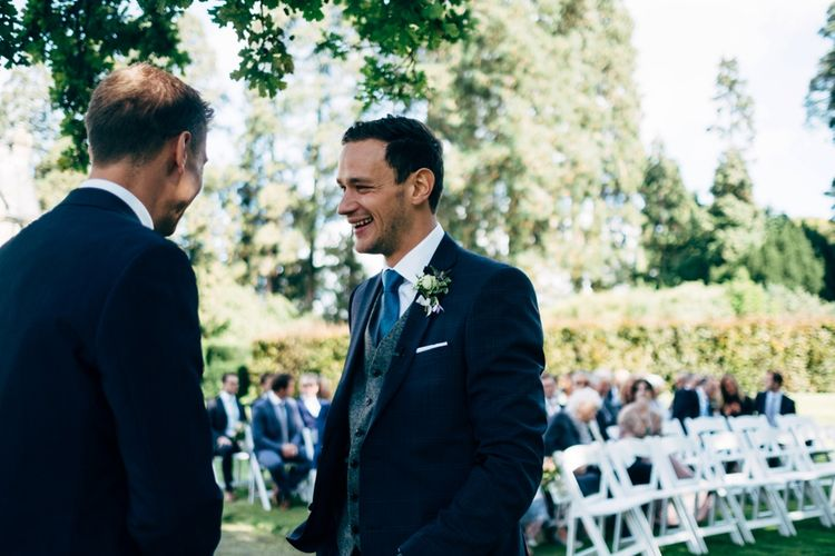 Groomsmen in Next Suits | Outdoor Ceremony & Rustic Wedding at Patricks Barn, Sussex | Dale Weeks Photography | Love Filmed