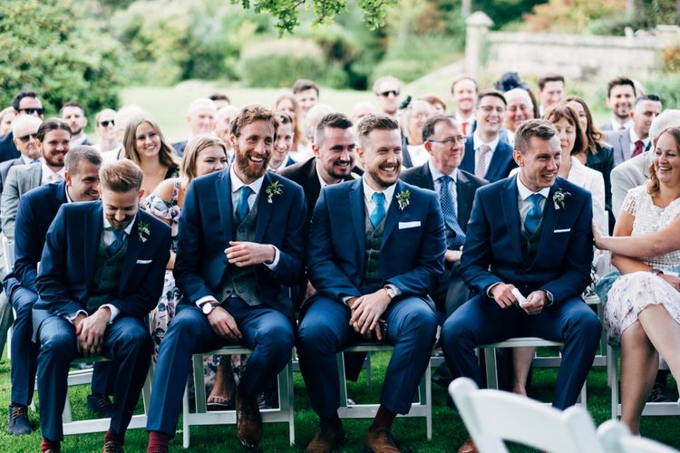 Outdoor Wedding Ceremony | Groomsmen in Next Suits | Rustic Wedding at Patricks Barn, Sussex | Dale Weeks Photography | Love Filmed