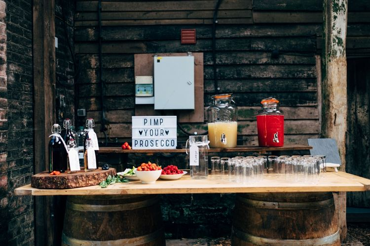 Pimp You Prosecco | Outdoor Ceremony & Rustic Wedding at Patricks Barn, Sussex | Dale Weeks Photography | Love Filmed