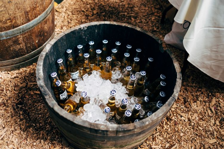 Beer Bottle Crate | Outdoor Ceremony & Rustic Wedding at Patricks Barn, Sussex | Dale Weeks Photography | Love Filmed