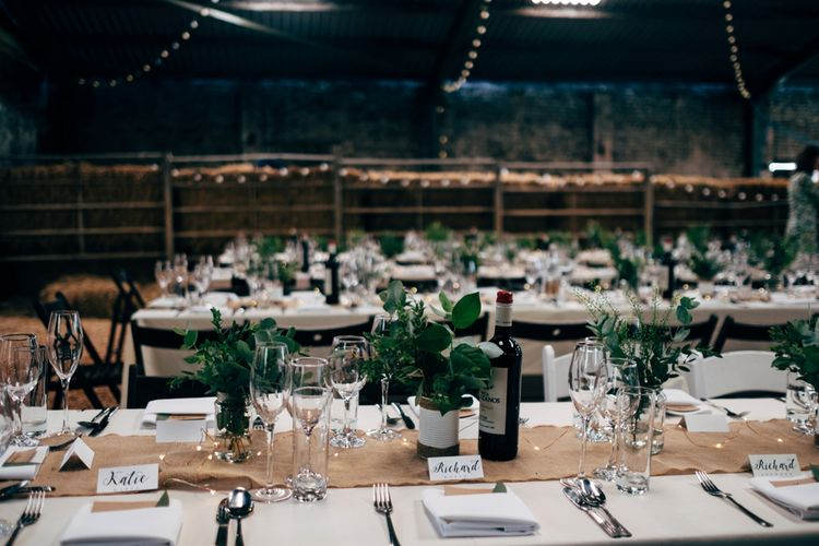 Table Scape & Centrepiece | Outdoor Ceremony & Rustic Wedding at Patricks Barn, Sussex | Dale Weeks Photography | Love Filmed