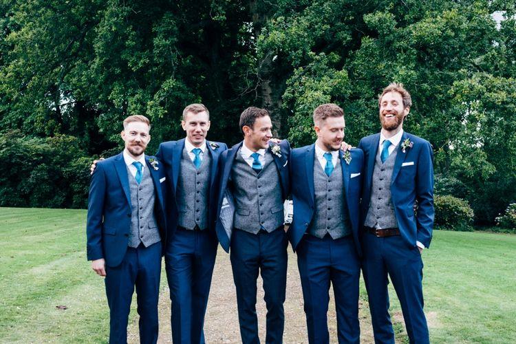 Groomsmen in Next Suits | Rustic Wedding at Patricks Barn, Sussex | Dale Weeks Photography | Love Filmed
