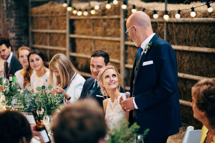 Speeches | Rustic Wedding at Patricks Barn, Sussex | Dale Weeks Photography | Love Filmed