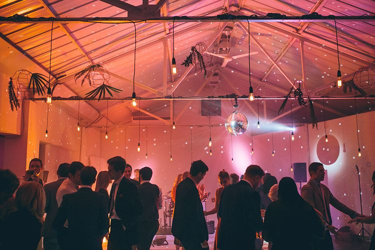 Industrial Wedding Lighting
