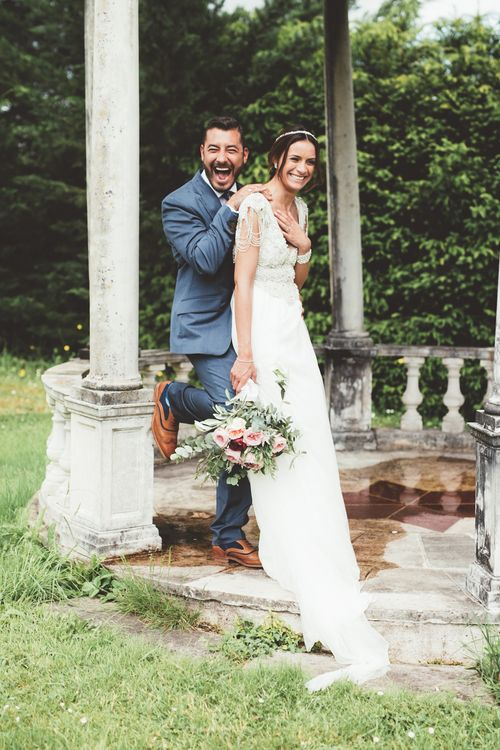 French Chateau Wedding With Outdoor Wedding Ceremony