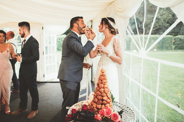 French Chateau Wedding With A Marquee Reception