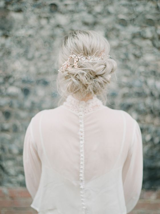 Soft & Messy Up Do For Wedding