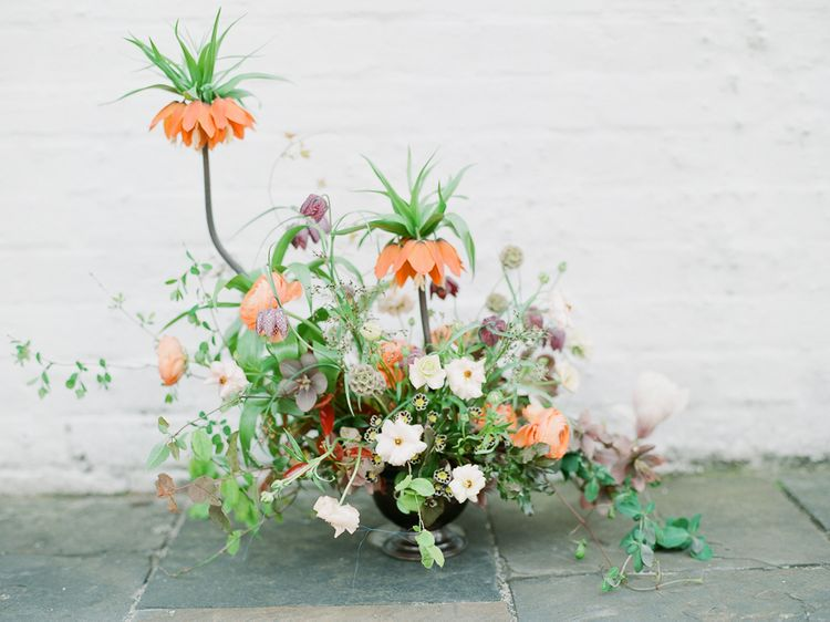 Stunning Floral Arrangement For Wedding With Fritillary