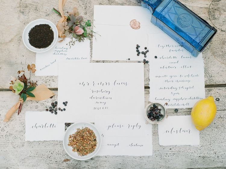 Elegant Calligraphy Stationery Suite For Wedding