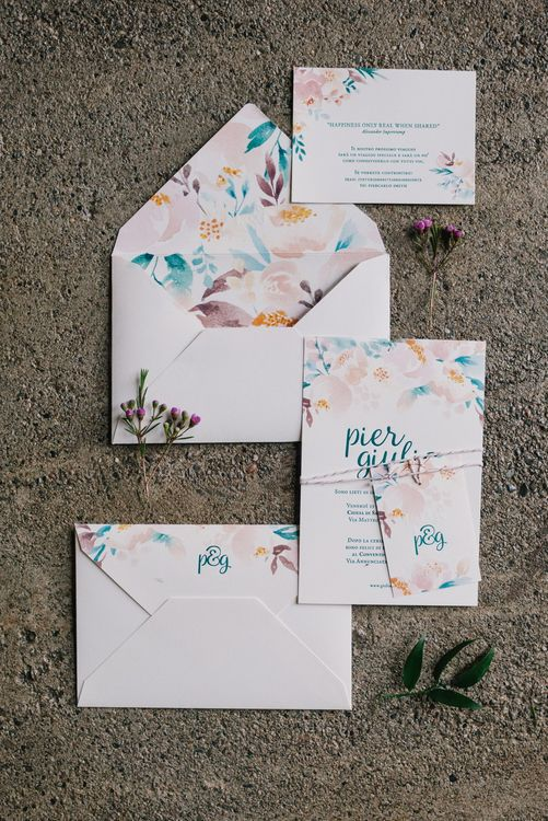 Letterink Wedding Stationery | Bright Woodland Wedding in Italy Planned & Styled by Le Jour du Oui | Infraordinario Wedding Photography | Mani Films