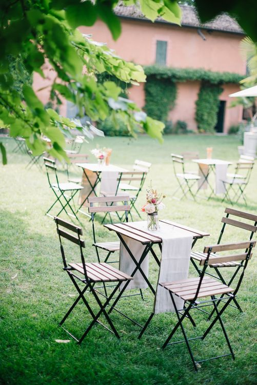Seating Area | Bright Woodland Wedding in Italy Planned & Styled by Le Jour du Oui | Infraordinario Wedding Photography | Mani Films