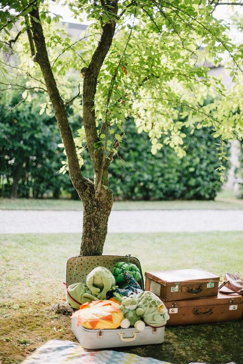 Children's Play Area | Bright Woodland Wedding in Italy Planned & Styled by Le Jour du Oui | Infraordinario Wedding Photography | Mani Films
