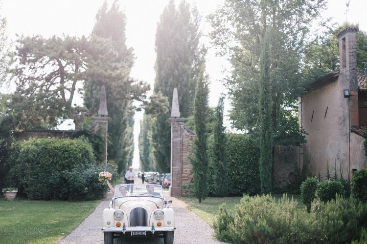 Wedding Car | Bright Woodland Wedding in Italy Planned & Styled by Le Jour du Oui | Infraordinario Wedding Photography | Mani Films