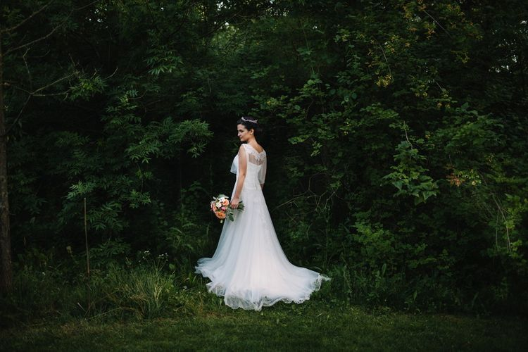 Bride in Couture Hayez Wedding Dress | Bright Woodland Wedding in Italy Planned & Styled by Le Jour du Oui | Infraordinario Wedding Photography | Mani Films