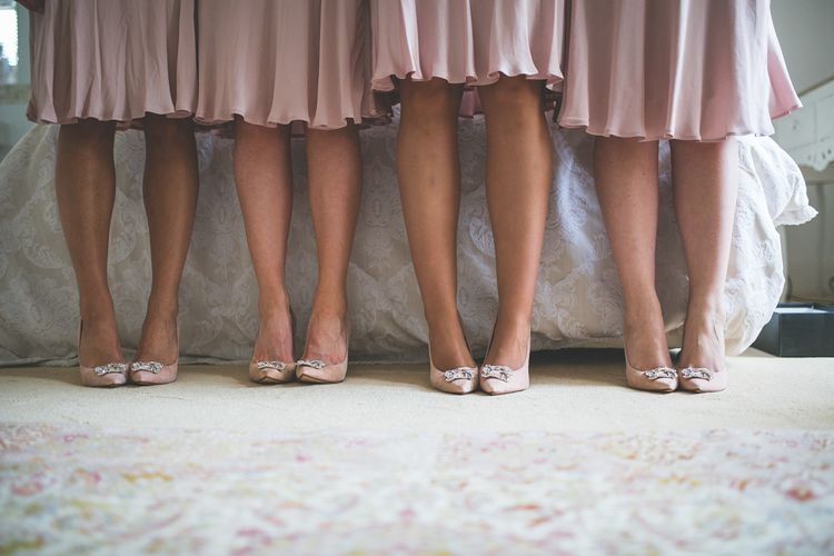 Pink Ghost Bridesmaids Dresses