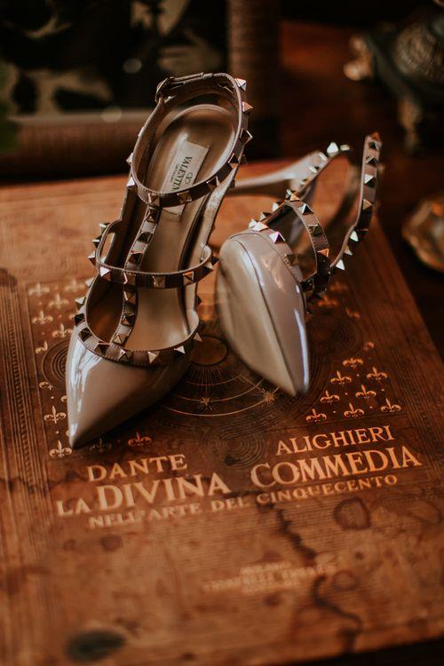 Valentino Rock Stud Bridal Shoes   D&A Photography   Ben Walton Films