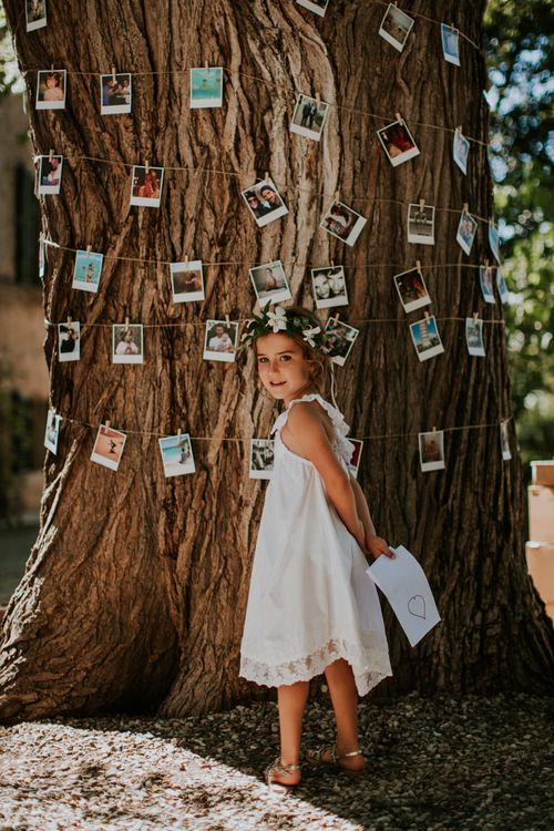 Tree wrapped in Polaroid Pictures   Wedding Decor   D&A Photography   Ben Walton Films