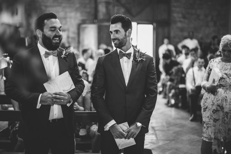 Groom at the Altar in Suit Supply   D&A Photography   Ben Walton Films