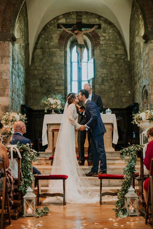Church Wedding Ceremony   Bride in Morgan Davies Gown   Groom in Suit Supply   D&A Photography   Ben Walton Films