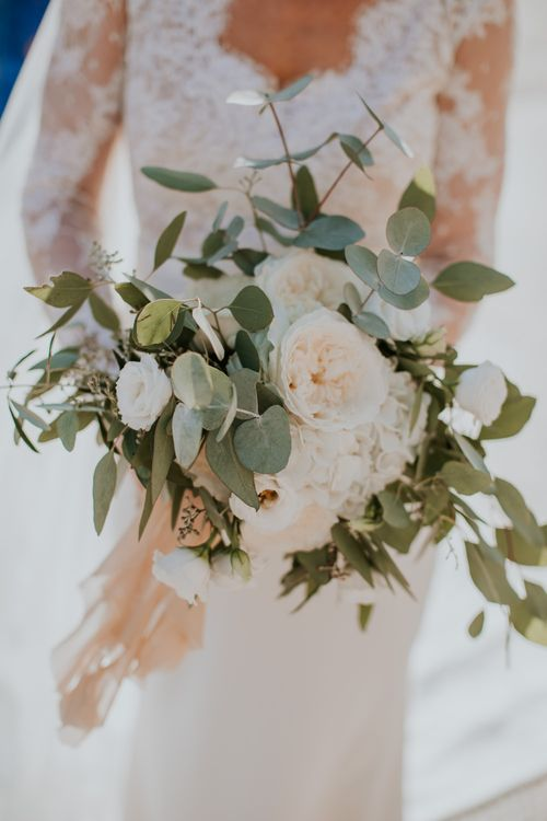 White Bridal Bouquet   D&A Photography   Ben Walton Films