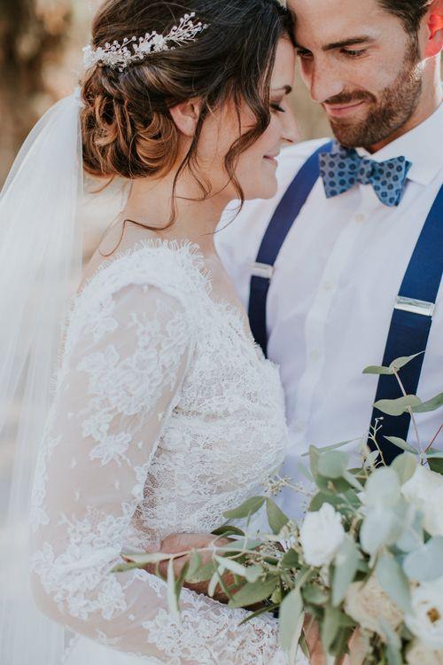 Bride in Morgan Davies Gown   Groom in Suit Supply   D&A Photography   Ben Walton Films